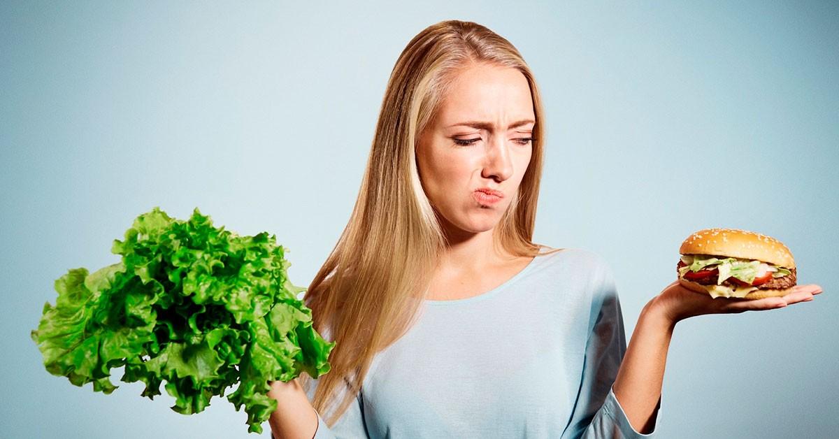 Прыщи у взрослых и питание